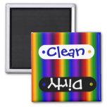 El arco iris raya los regalos coloridos de la falt imán para frigorifico