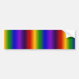 El arco iris raya los regalos coloridos de la falt pegatina para auto