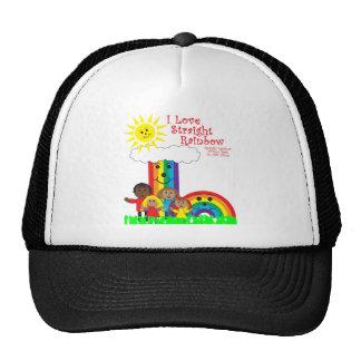 El arco iris recto gorra