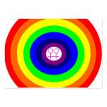 El arco iris redondo de las lesbianas me llama tar tarjetas de visita