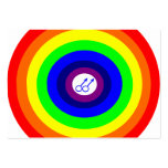 El arco iris redondo de los hombres gay me llama t plantillas de tarjetas de visita