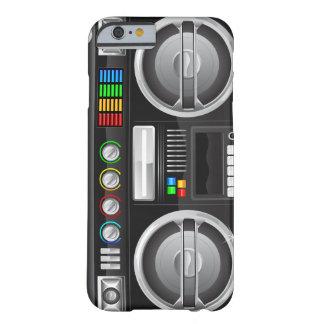 el arco iris retro abotona el amo del ghetto del funda de iPhone 6 barely there