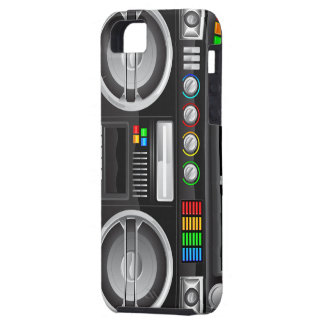 el arco iris retro abotona el arenador del ghetto iPhone 5 carcasas