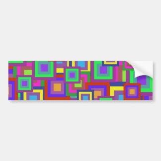 El arco iris retro ajusta el modelo pegatina de parachoque