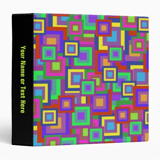"""El arco iris retro ajusta el modelo carpeta 1 1/2"""""""