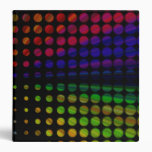 "El arco iris retro puntea 1,5"" carpeta"