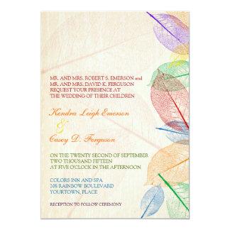 El arco iris sale del boda invitacion personalizada