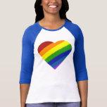 El arco iris salpicó el corazón camiseta