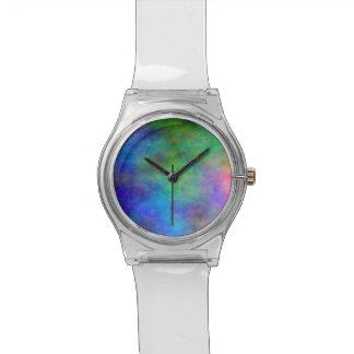 El arco iris se descoloró reloj de mano