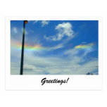 El arco iris se nubla la postal