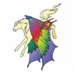 el arco iris se va volando Pegaso Esculturas Fotográficas