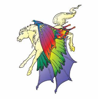 el arco iris se va volando Pegaso Fotoescultura Vertical