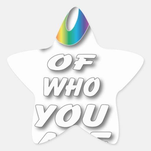 El arco iris sea orgulloso (las miradas mejores en colcomanias forma de estrellaes