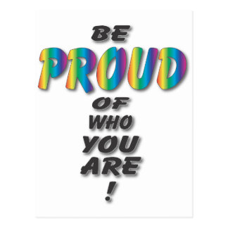 El arco iris sea orgulloso postales