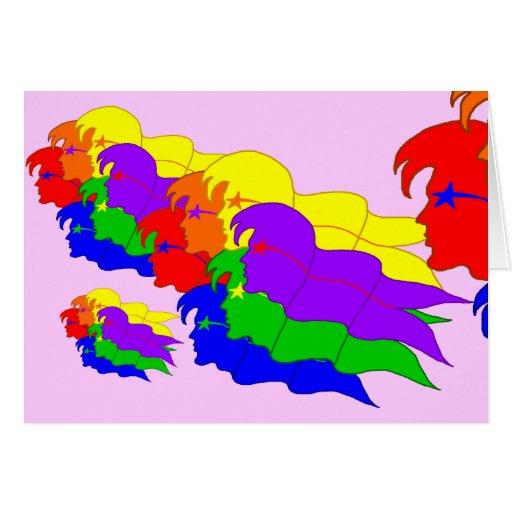 El arco iris señala 2 por medio de una bandera - t tarjeta