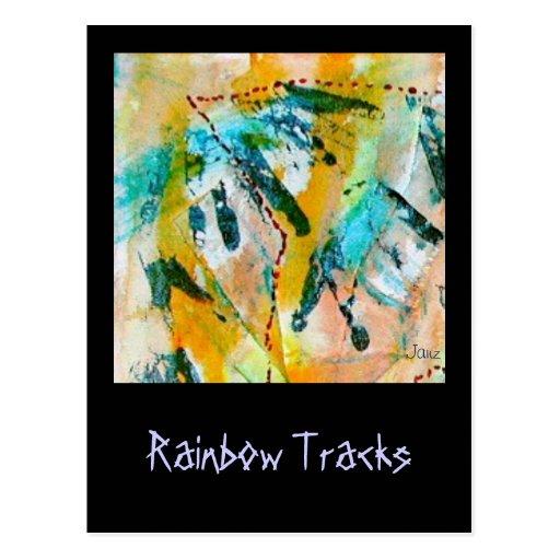El arco iris sigue la postal por Janz