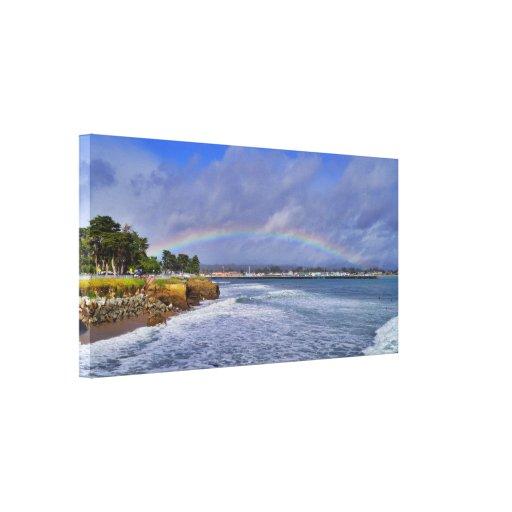 El arco iris sobre Santa Cruz envolvió la impresió Lona Envuelta Para Galerias