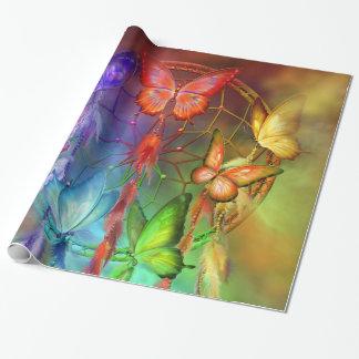 El arco iris soña el papel de regalo del arte