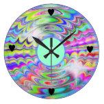 El arco iris soña el reloj de pared adaptable