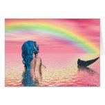 El arco iris soña la tarjeta