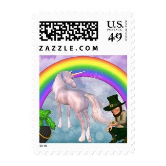 El arco iris soña unicornio franqueo
