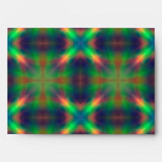El arco iris suave enciende diseño abstracto forma sobres