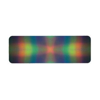 El arco iris suave enciende diseño del extracto de etiqueta de remitente