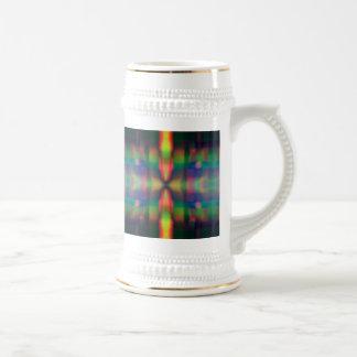 El arco iris suave enciende diseño del extracto de jarra de cerveza