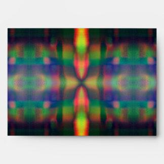 El arco iris suave enciende diseño del extracto de sobres