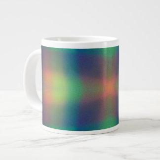 El arco iris suave enciende diseño del extracto de taza grande
