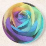 El arco iris subió florece destino del amor de la  posavaso para bebida