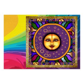 El arco iris Sun hace frente por SRF Tarjetas De Visita