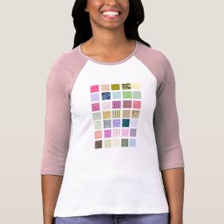 El arco iris tejó el modelo de los cuadrados camisetas