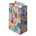 El arco iris transparente burbujea bolso del bolsa de regalo pequeña