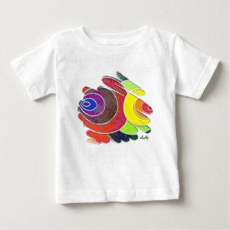 El arco iris tuerce en espiral camiseta infantil remera