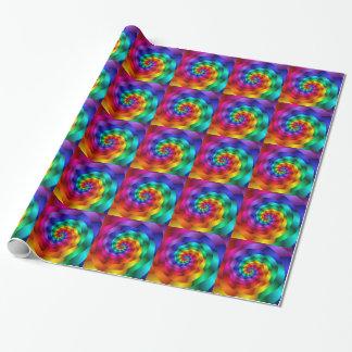 El arco iris tuerce en espiral papel de envoltorio
