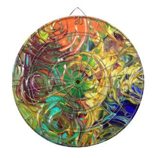 El arco iris tuerce en espiral pintura abstracta