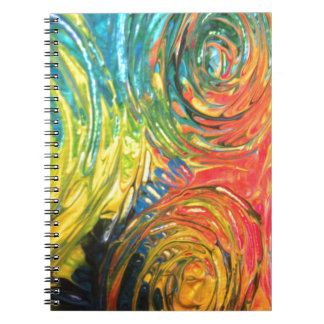 El arco iris tuerce en espiral pintura abstracta libros de apuntes con espiral