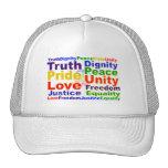 El arco iris valora el gorra