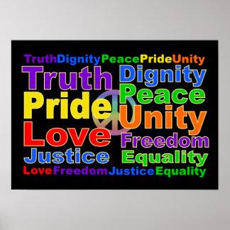 El arco iris valora el poster