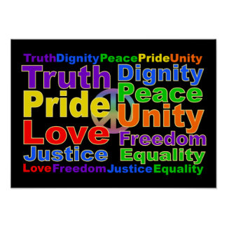 El arco iris valora el poster póster