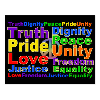 El arco iris valora la postal