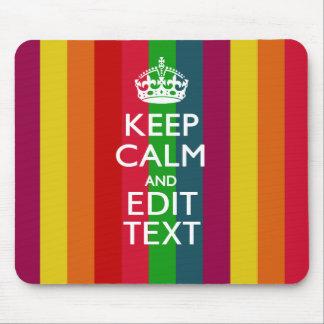El arco iris vibrante guarda calma y su tapetes de raton