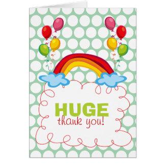 el arco iris y los globos del fatfatin le agradece felicitación