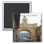 El Arco, La Antigua, Guatemala 2 Inch Square Magnet