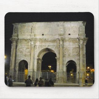 El arco Roma Italia Mousepad de Constantina Alfombrilla De Raton