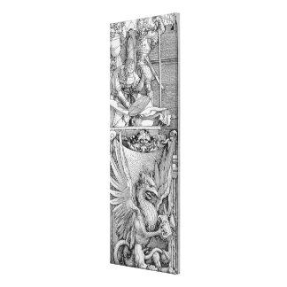 El arco triunfal del emperador Maximiliano I Impresión En Lienzo Estirada