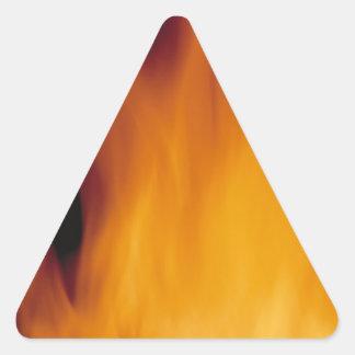el arderse del fuego del día de fiesta pegatina trianguladas personalizadas