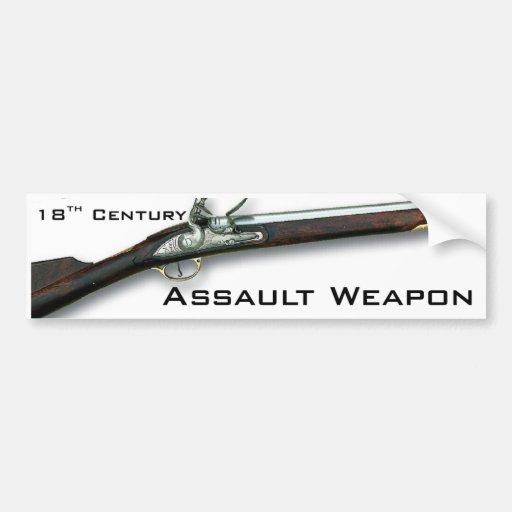 El arma de asalto original pegatina de parachoque