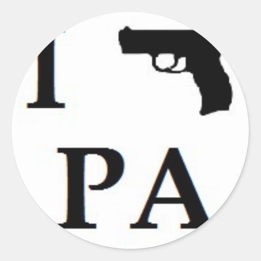 El arma endereza el PA Etiqueta Redonda